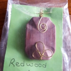 Hand wrapped  Redwood marble